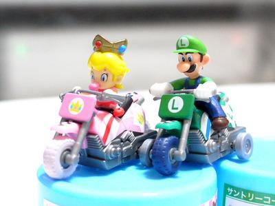 マリオカートWii プルバックバイク「ベビィピーチ・ルイージ」