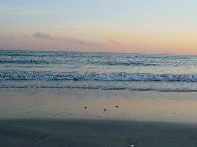 夕暮れの海2